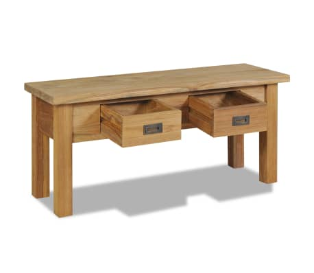 "vidaXL Hall Bench Solid Teak 35.4""x11.8""x15.7""[3/7]"