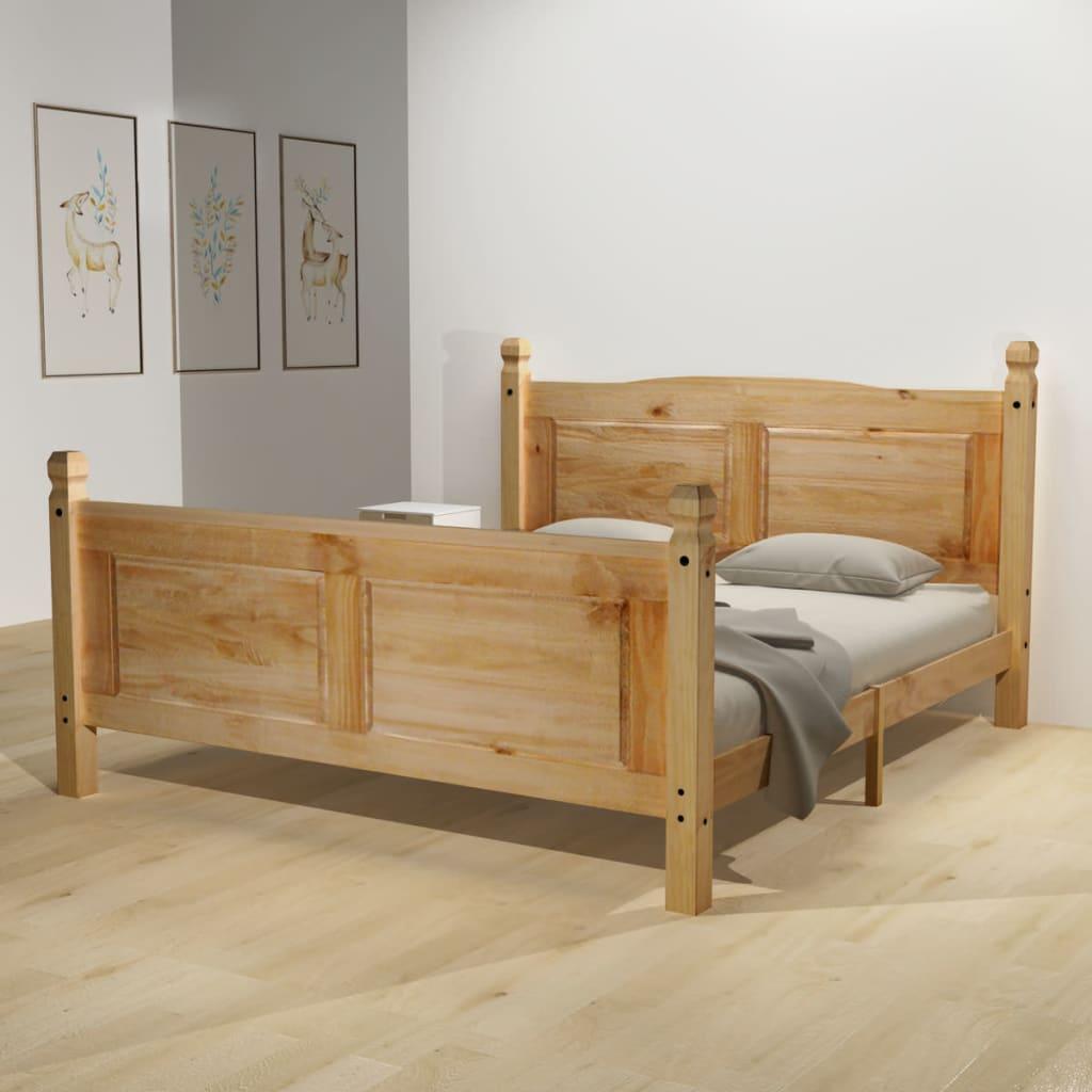 vidaXL Κρεβάτι Μεξικ. Στιλ Corona 160 x 200 εκ. Ξύλο Πεύκου με Στρώμα