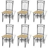 vidaXL Dining Chairs 6 pcs Light Brown