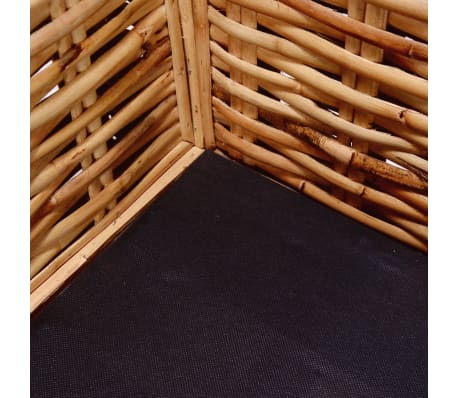 vidaxl 2 sitzer sofa nat rliches rattan g nstig kaufen. Black Bedroom Furniture Sets. Home Design Ideas