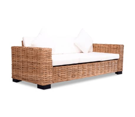 vidaxl 3 sitzer sofa nat rliches rattan g nstig kaufen. Black Bedroom Furniture Sets. Home Design Ideas