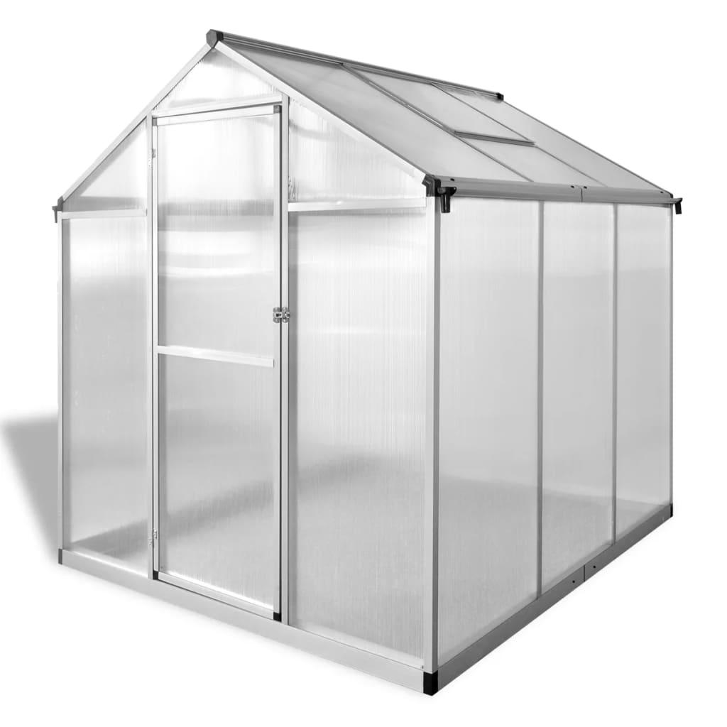 vidaXL Broeikas versterkt aluminium 3,46 m²