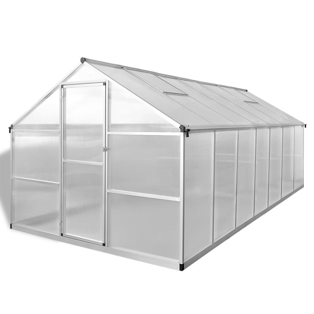 vidaXL Broeikas versterkt aluminium 10,53 m²