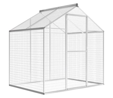 "vidaXL Outdoor Aviary Aluminium 70.1""x48""x76.4""-picture"
