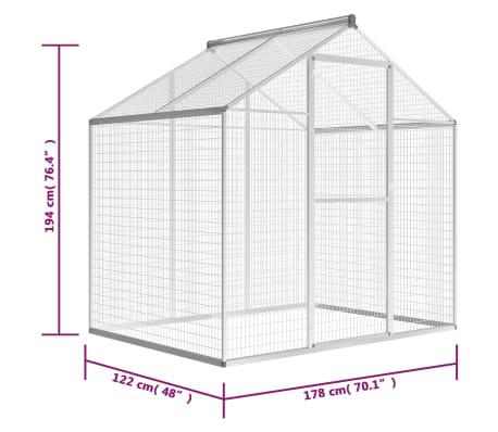 vidaXL kültéri alumínium madárház 178 x 122 x 194 cm[5/5]