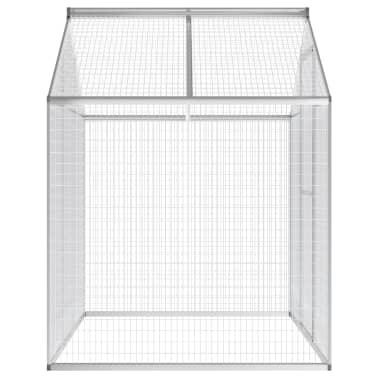 vidaXL putnu māja, aviārijs, 178x122x194 cm, alumīnijs[4/5]