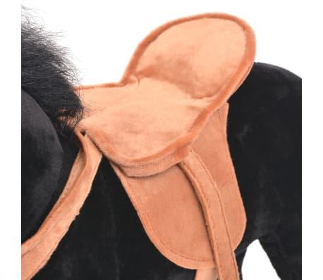 vidaXL Staand knuffelpaard pluche zwart[5/6]