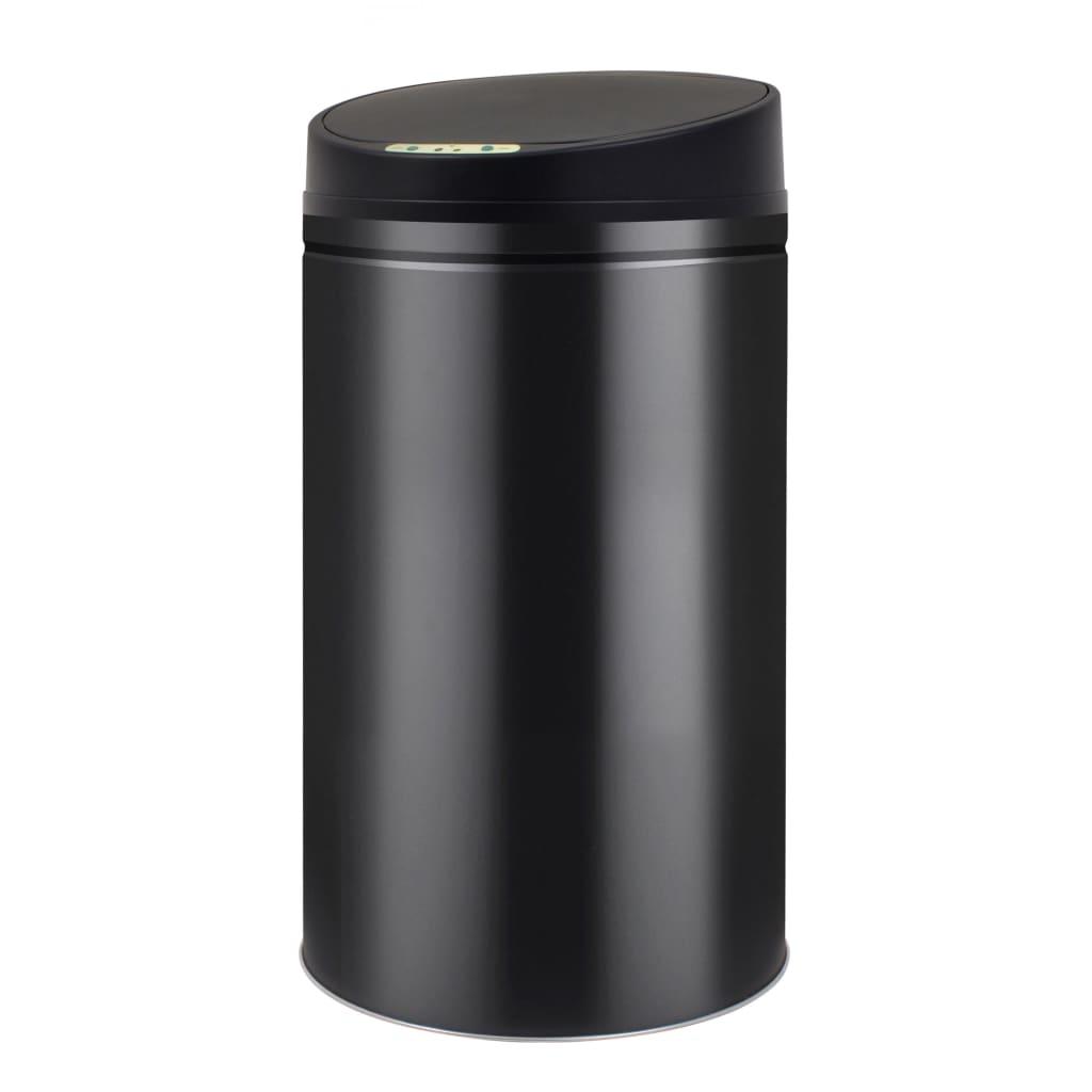 vidaXL Coș de gunoi cu senzor automat 42 L, negru vidaxl.ro
