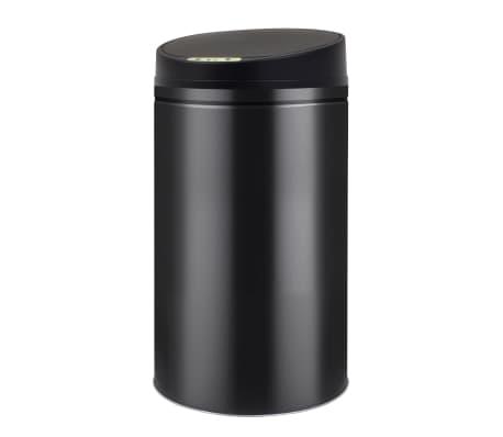 vidaXL Coș de gunoi cu senzor automat 42 L, negru