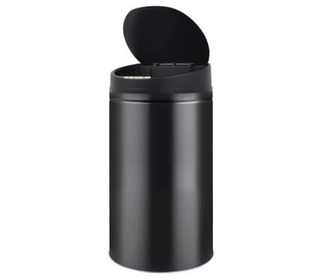 vidaXL Coș de gunoi cu senzor automat 42 L, negru[3/7]
