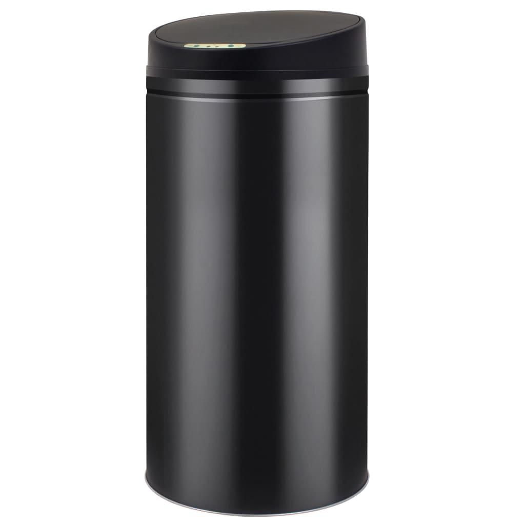 vidaXL Coș de gunoi cu senzor automat 52 L, negru poza vidaxl.ro
