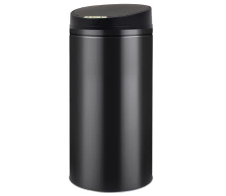 vidaXL Prullenbak met automatische sensor 52 L zwart[1/7]