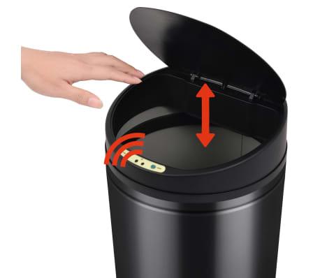 vidaXL Prullenbak met automatische sensor 52 L zwart[4/7]