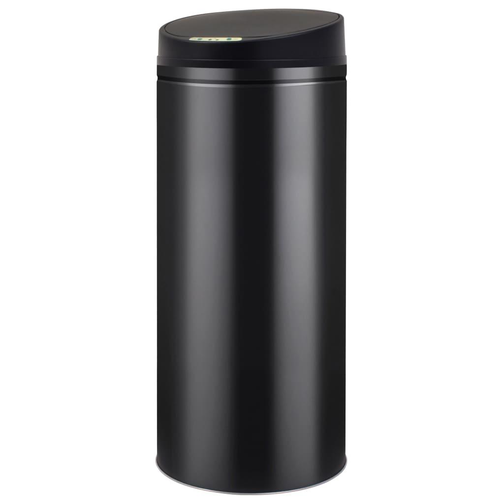 vidaXL Coș de gunoi cu senzor automat 62 L, negru vidaxl.ro