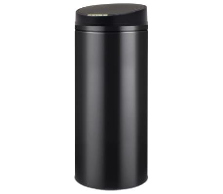 vidaXL Cubo de basura con sensor automático 62 L negro[1/7]