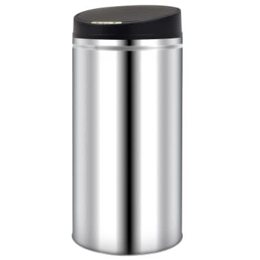 vidaXL Odpadkový koš s automatickým senzorem 52 l nerezová ocel[1/7]