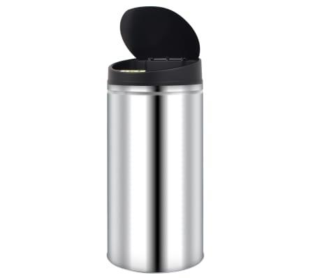 vidaXL Odpadkový koš s automatickým senzorem 52 l nerezová ocel[3/7]