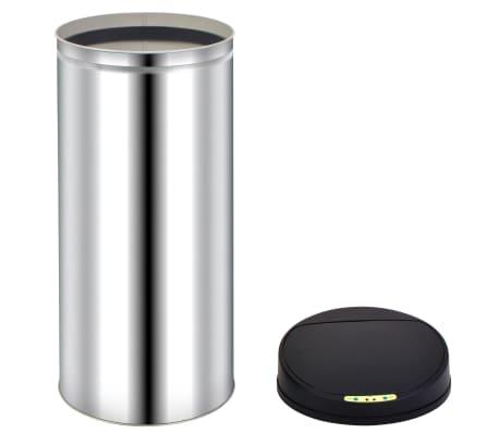 vidaXL Odpadkový koš s automatickým senzorem 52 l nerezová ocel[5/7]