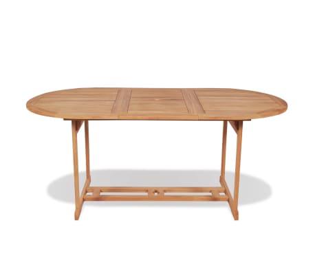 Vidaxl mesa de comedor para exterior de teca 180x90x75 cm for Mesas de comedor para exterior