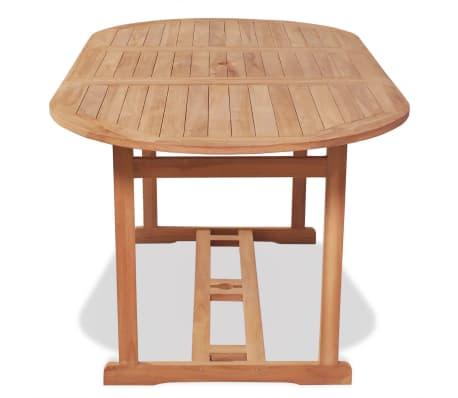 vidaxl table de salle manger d 39 ext rieur 180 x 90 x 75 cm teck. Black Bedroom Furniture Sets. Home Design Ideas