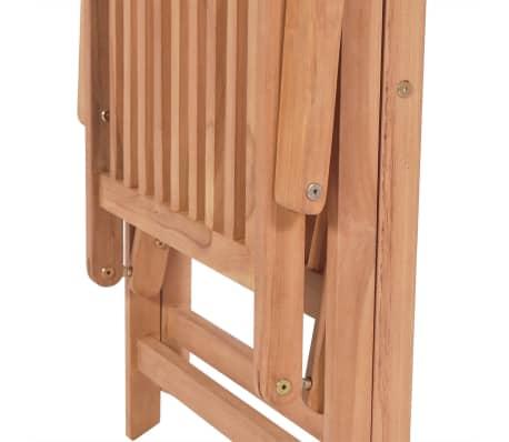 vidaXL 7-cz. zestaw składanych mebli ogrodowych, lite drewno tekowe[12/14]