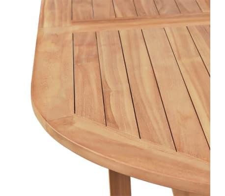 vidaXL 7-cz. zestaw składanych mebli ogrodowych, lite drewno tekowe[6/14]