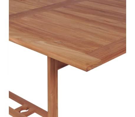 Vidaxl mesa de comedor rectangular para exterior de teca for Mesas de comedor para exterior