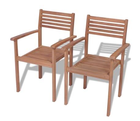 Gartenstühle stapelbar  vidaXL Gartenstühle Stapelbar 2 Stk. Teak günstig kaufen | vidaXL.de
