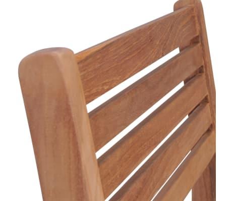 vidaXL Krzesła ogrodowe sztaplowane, 4 szt., lite drewno tekowe[6/7]