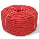 vidaXL Jūrinė virvė, polipropilenas, 10mm, 50m, raudona