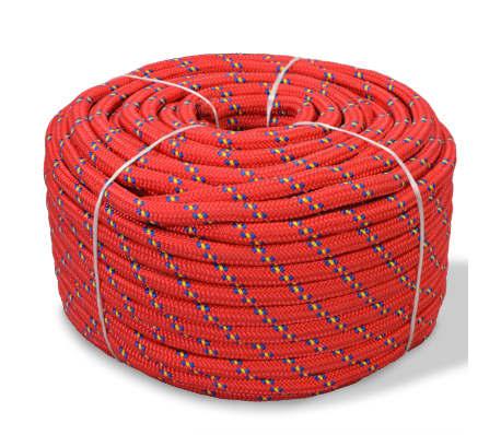 vidaXL Cuerda marina de polipropileno 14 mm 50 m roja[1/2]