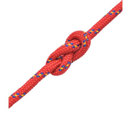 vidaXL Cuerda marina de polipropileno 14 mm 50 m roja[2/2]