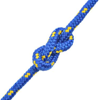 vidaXL Bootsseil Polypropylen 8 mm 100 m Blau[2/2]