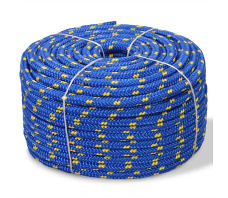 vidaXL Båttau polypropylen 12 mm 50 m blå