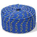 vidaXL Cuerda marina de polipropileno 14 mm 50 m azul