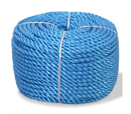 vidaXL Corda torcida em polipropileno 6 mm 200 m azul