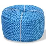 vidaXL Усукано въже, полипропилен, 10 мм, 100 м, сино