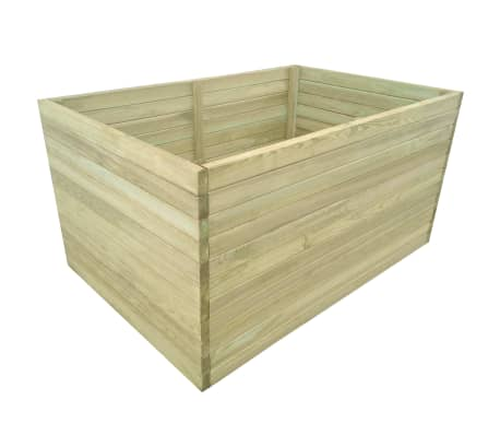 vidaXL Plantenbak geïmpregneerd grenenhout 100x100x77 cm[1/4]