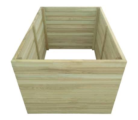 vidaXL Plantenbak geïmpregneerd grenenhout 100x100x77 cm[2/4]