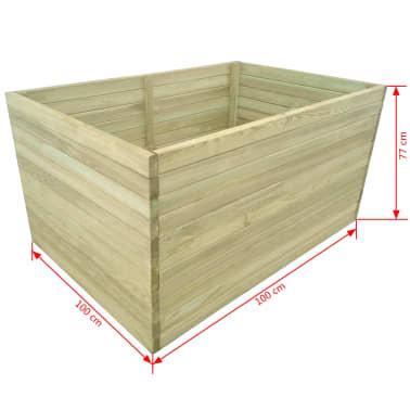 vidaXL Plantenbak geïmpregneerd grenenhout 100x100x77 cm[4/4]