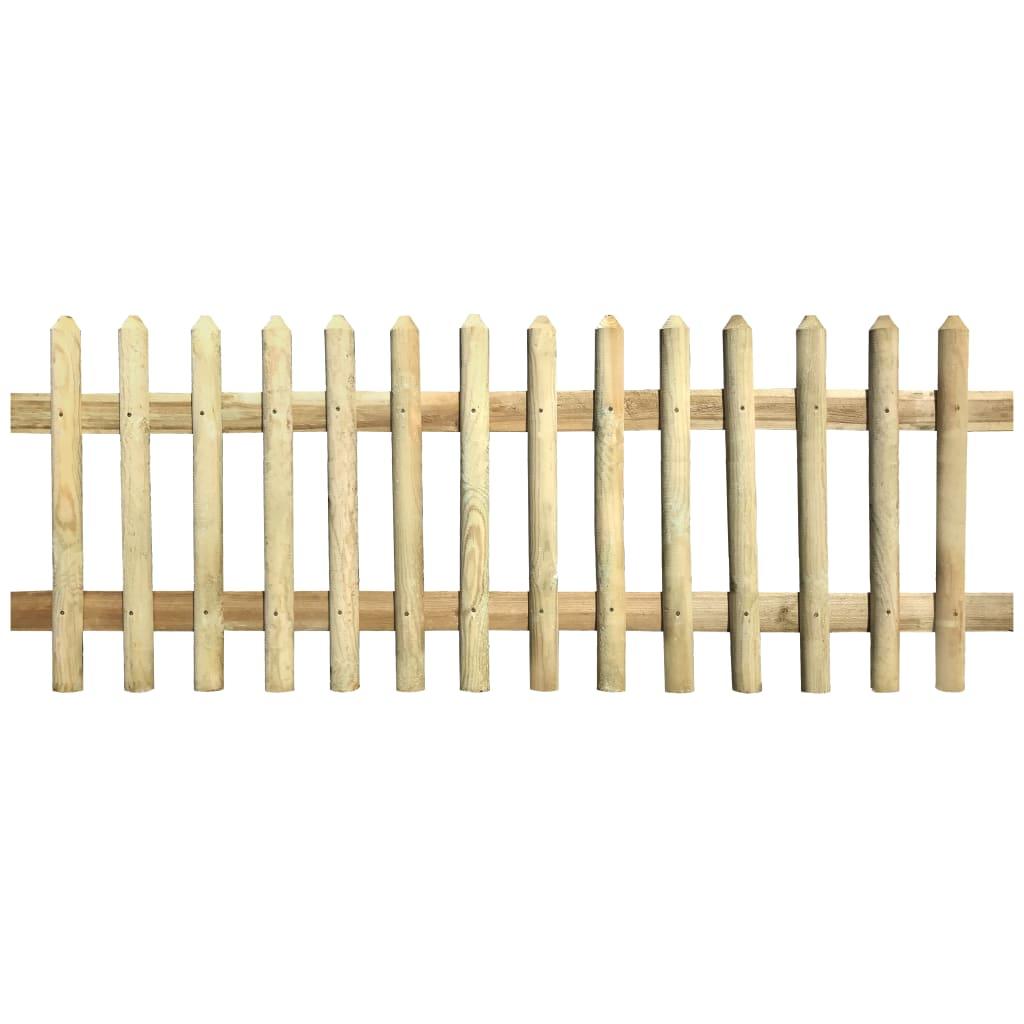 vidaXL Gard din țăruși, 170 x 80 cm, 5/7 cm, lemn de pin tratat imagine vidaxl.ro