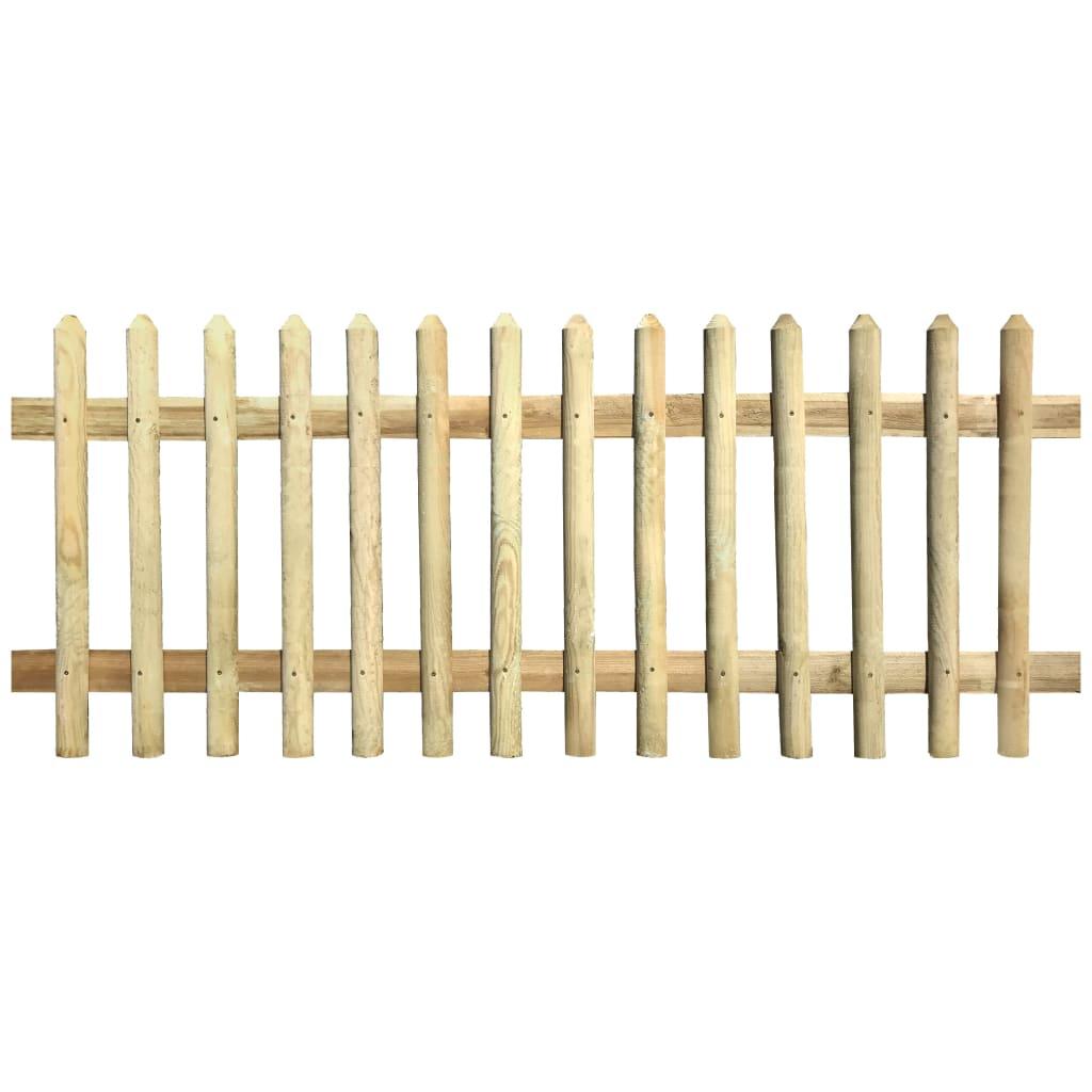 vidaXL Laťkový plot, impregnovaná borovice, 170x120 cm, 5/7cm