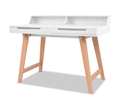 vidaXL Schreibtisch MDF Buchenholz 110 x 60 x 85 cm Weiß[1/6]