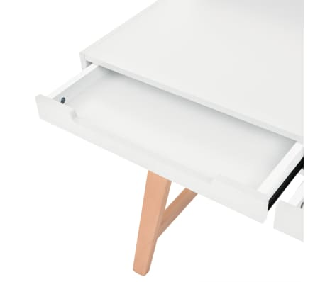 vidaXL Schreibtisch MDF Buchenholz 110 x 60 x 85 cm Weiß[5/6]