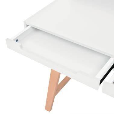vidaXL Rašomasis stalas, MDF, bukmedis, 110x60x85cm, baltos sp.[5/6]