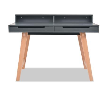 vidaxl schreibtisch mdf buchenholz 110 x 60 x 85 cm grau g nstig kaufen. Black Bedroom Furniture Sets. Home Design Ideas