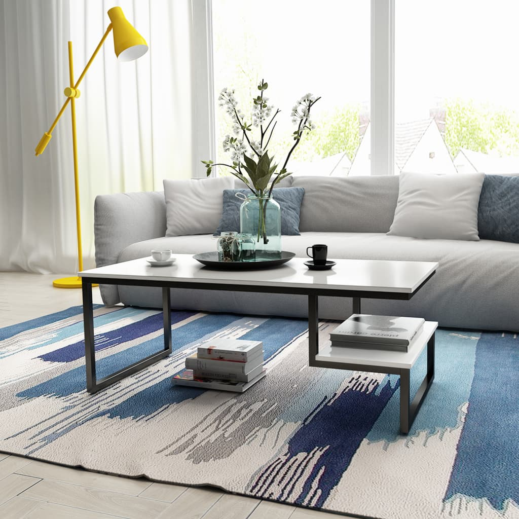 Table Basse Terrarium A Vendre vidaxl table basse très brillante blanche 120 x 60 x 45 cm