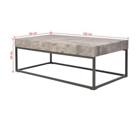 vidaxl couchtisch betonoptik 120 x 60 x 45 cm g nstig. Black Bedroom Furniture Sets. Home Design Ideas