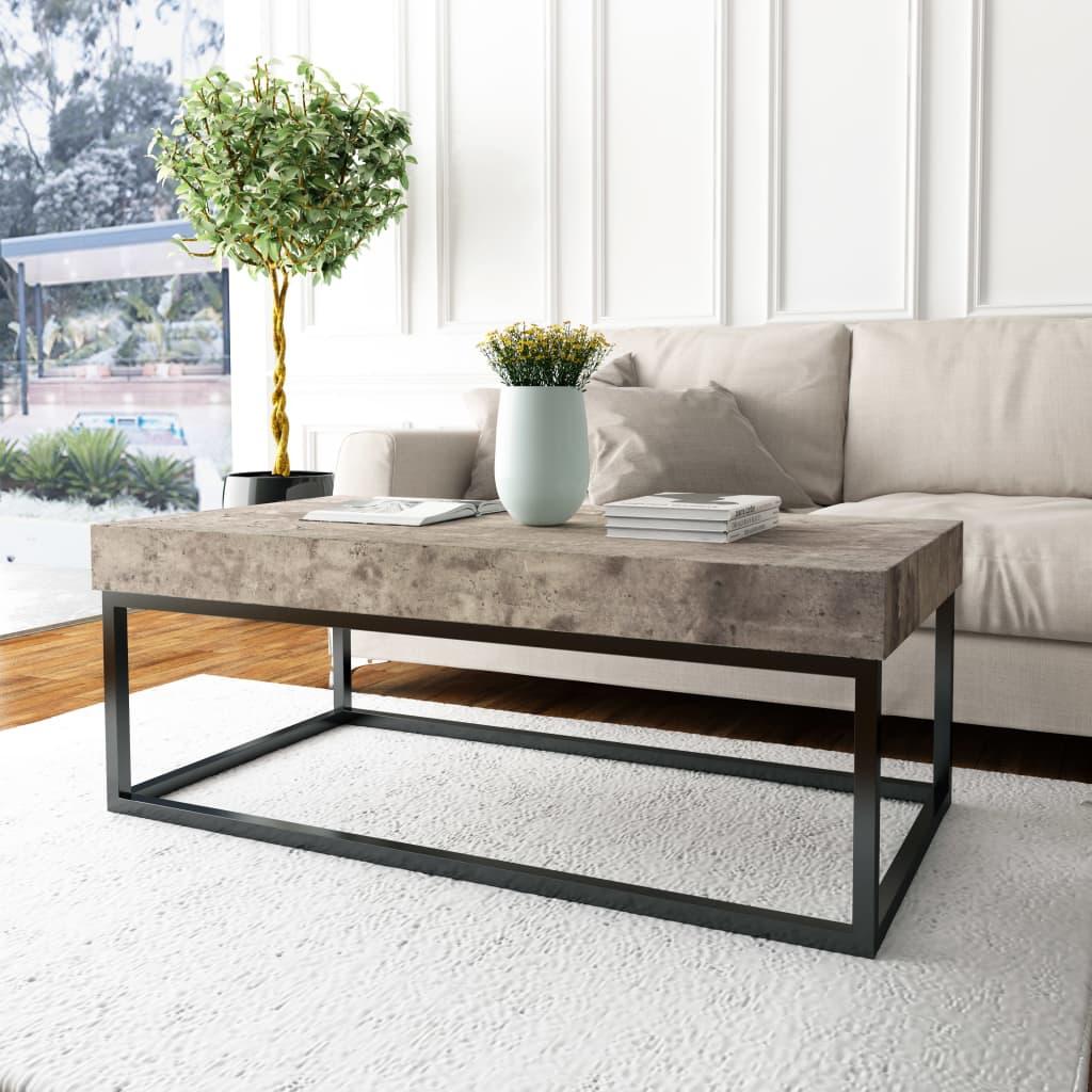 vidaXL Konferenční stolek, betonový vzhled, 120x60x45 cm