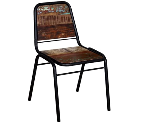 Vidaxl 4 pz sedie sala da pranzo legno massello riciclato for Sedie sala da pranzo prezzi